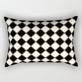 Geometric ornament gold seamless pattern Rectangular Pillow