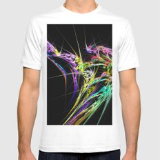 chaos cloud rays fractal  background 1 White MEDIUM Mens Fitted Tee