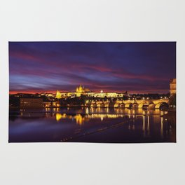 Prague castle and the Charles bridge Rug