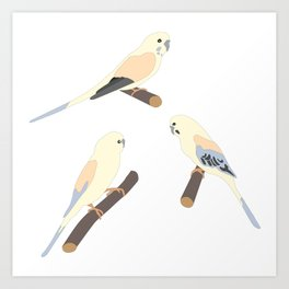Cute Birds Art Print