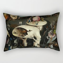 The Garden of Earthly Delights, Right Panel by Hieronymus Bosch Rectangular Pillow