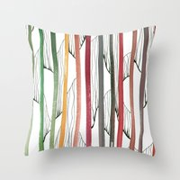 stripes Throw Pillows featuring STRIPES by u t a