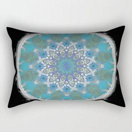 Kiwi of the Gods Sacred Spirit Geometric Fruit Mandala Print II Rectangular Pillow