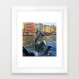 Gondola Dragon Framed Art Print