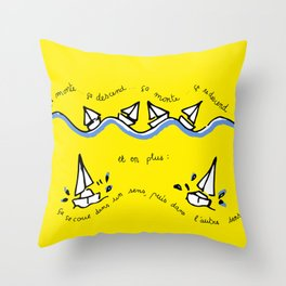 Cirrus/ Up and down Throw Pillow