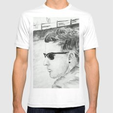 B/W I am not famous Mens Fitted Tee White MEDIUM