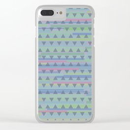 Jazz Dance with triangles Clear iPhone Case