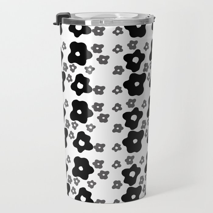 abstract flowers on white background . art https://society6.com/simpledoodles/collection Travel Mug