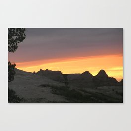 Badlands National Park at Sunset Canvas Print