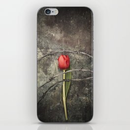 Tulip and barbed wire iPhone Skin