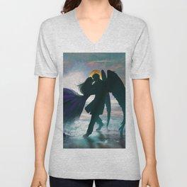 Angel romance embrace Unisex V-Neck