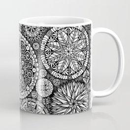 The Yin, Black Mandalas by Kent Chua Coffee Mug