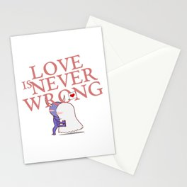 Love is never wrong Stationery Cards