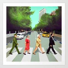 A(llen)bby road - TLV Art Print