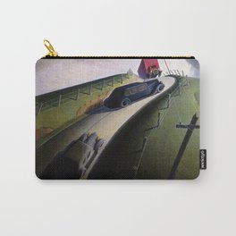 Death on the Ridge Road by Grant Wood Carry-All Pouch