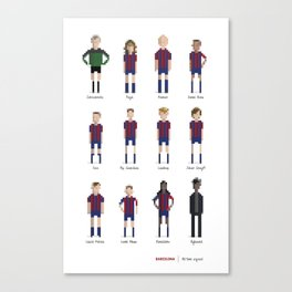 Barcelona - All-time squad Canvas Print