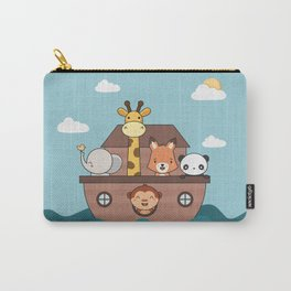 Kawaii Cute Zoo Animals On A Boat Carry-All Pouch
