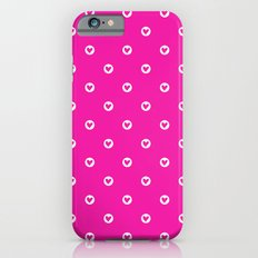 Little pink hearts iPhone 6s Slim Case