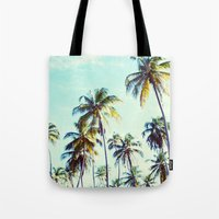 palm Tote Bags featuring Palm by Sol&Co