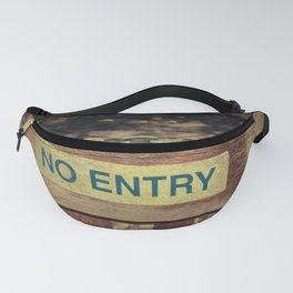 No Entry sign hanging on a chain Fanny Pack