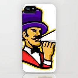 Circus Ringleader or Ringmaster Mascot iPhone Case
