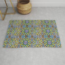 Persian Mosaic Tile Pattern Rug