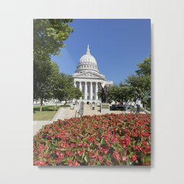 Capitol Building Madison Wisconsin from State Street Metal Print