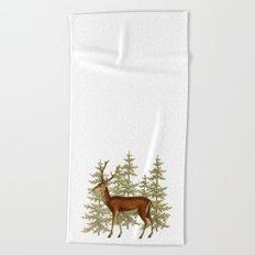 Wandering deer  Beach Towel