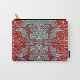 Boujee Boho Collection Deep Red Seal Carry-All Pouch