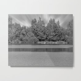 Boats at a lake Metal Print