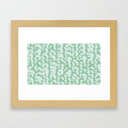 Green Butterflies Framed Art Print