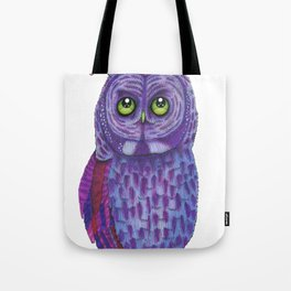 The Great Gray Purple Owl, A Key Holder And Protector Of The Mice Kingdom Tote Bag