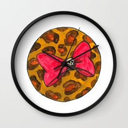 Elements of Pin-Up: Red Hair Bow Wall Clock