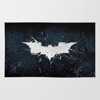 thorin Area & Throw Rugs featuring BAT MAN by Thorin