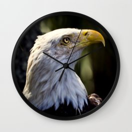 Proud Bald Eagle Wall Clock