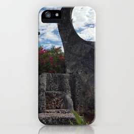 Coral Castle moon and planet iPhone Case