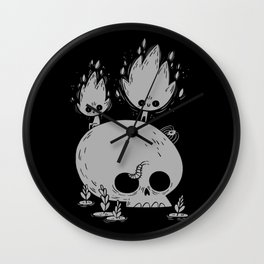 Fuegos Fatuos (grey) Wall Clock