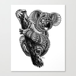 Ornate Koala Canvas Print
