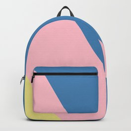 Blue, Pink and Yellow Stripes Backpack