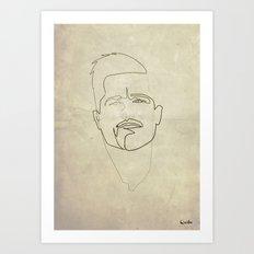 One line Inglorious Bastard Art Print