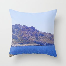 Hills on the Water Throw Pillow