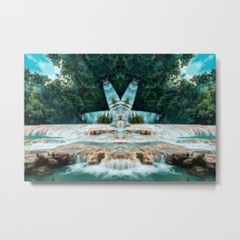 Kaleidoscape: Agua Azul Metal Print