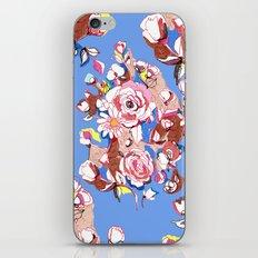 Blue Textile iPhone & iPod Skin