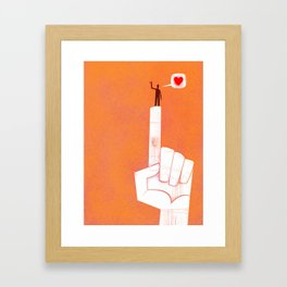 the point is my heart Framed Art Print
