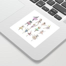 Animal Square Dance Hipster Ballerinas Sticker