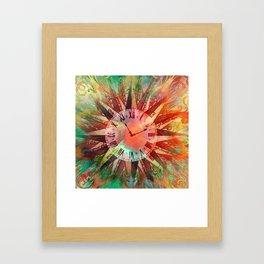 Synchronicity 11:11 Clock Face Time Design Framed Art Print