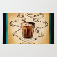 cigarettes Area & Throw Rugs featuring Cigarettes and Chocolate Milk by Brittany W-Smith