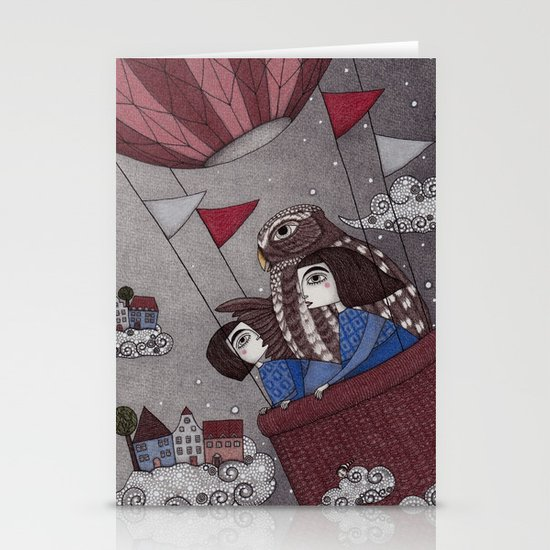 Through the Clouds and Back Again Stationery Cards
