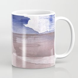 Beige Blue abstract watercolor texture Coffee Mug