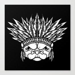 Tribal Pug Canvas Print